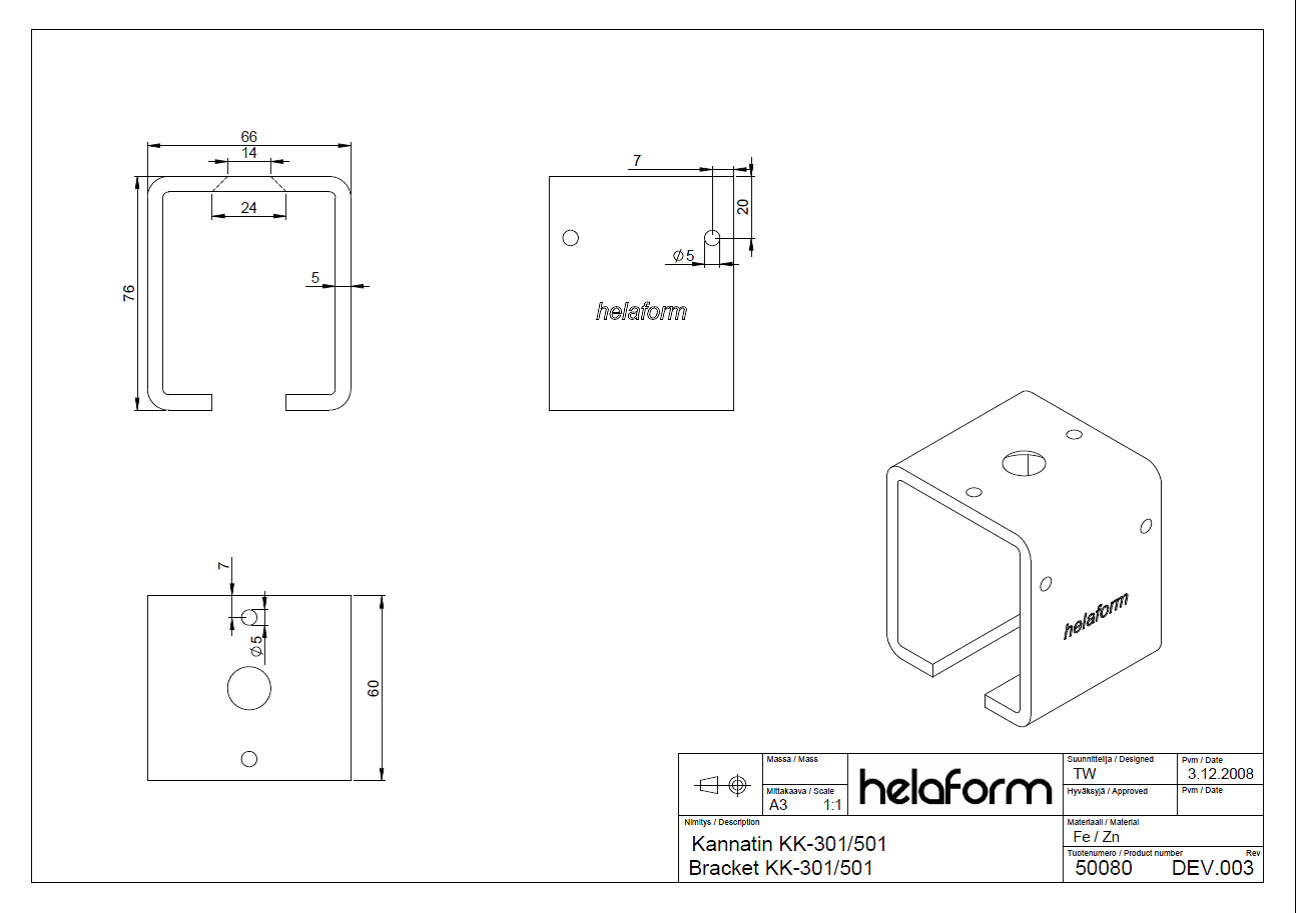 Helaform Spec Sheet